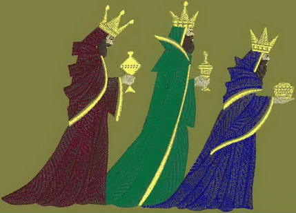 3 wise men machine embroidery design