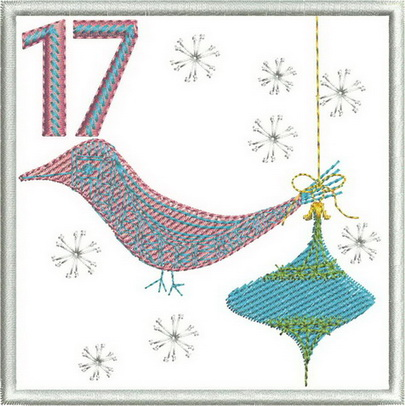 advent calendar machine embroidery design