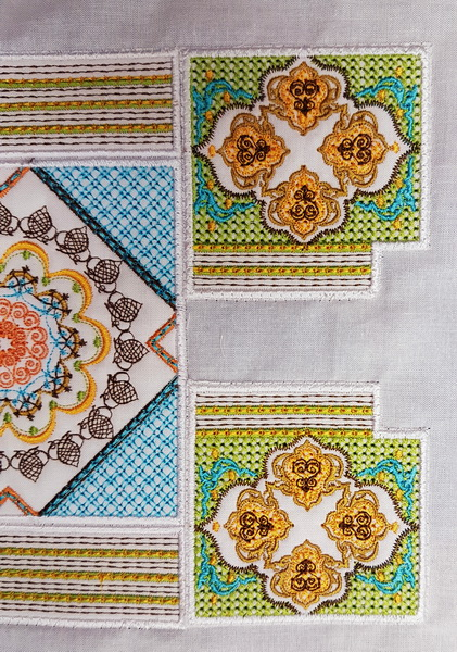 Shorbet Shades Instructions. Machine Embroidery Designs by Cathy Park of Stitchingart