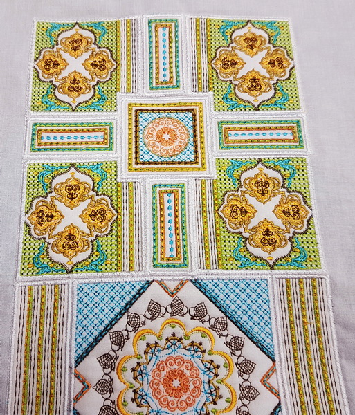 Sorbet Shades Machine Embroidery Designs by Cathy Park. Sorbet Shades machine embroidery design instructions, stitching out designs.