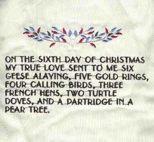 12 days of christmas machine embroidery design