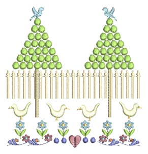 2 tree farm machine embroidery design