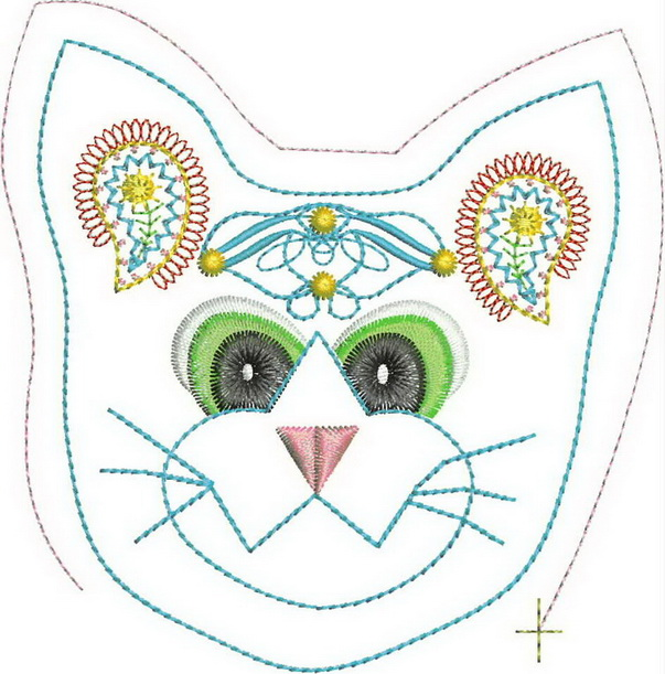 Cuddles the Cat Machine Embroidery Designs
