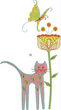 Wall Flowers Machine Embroidery Designs by Stitchingart.