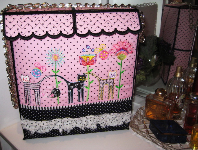 Wall Flowers Machine Embroidery Designs by Stitchingart. Bag