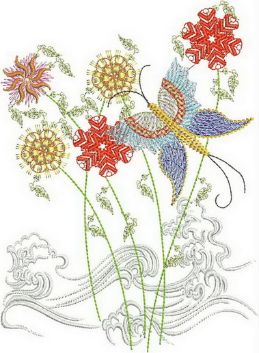 Waters of Spring Machine Embroidery Designs by Stitchingart