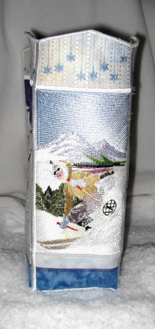 Winter Wonderland Machine Embroidery Designs. Bag. Ice Skaiting. Snow. Tobbogoning. Skiing.