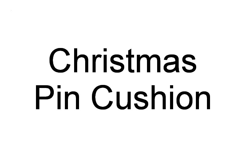 Christmas 2016 Machine Embroidery Designs. Pin Cushion