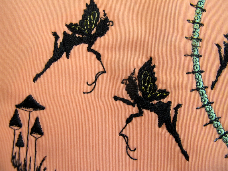 Dream Moon Fairies Machine Embroidery Designs. Clothes Hanger Cover