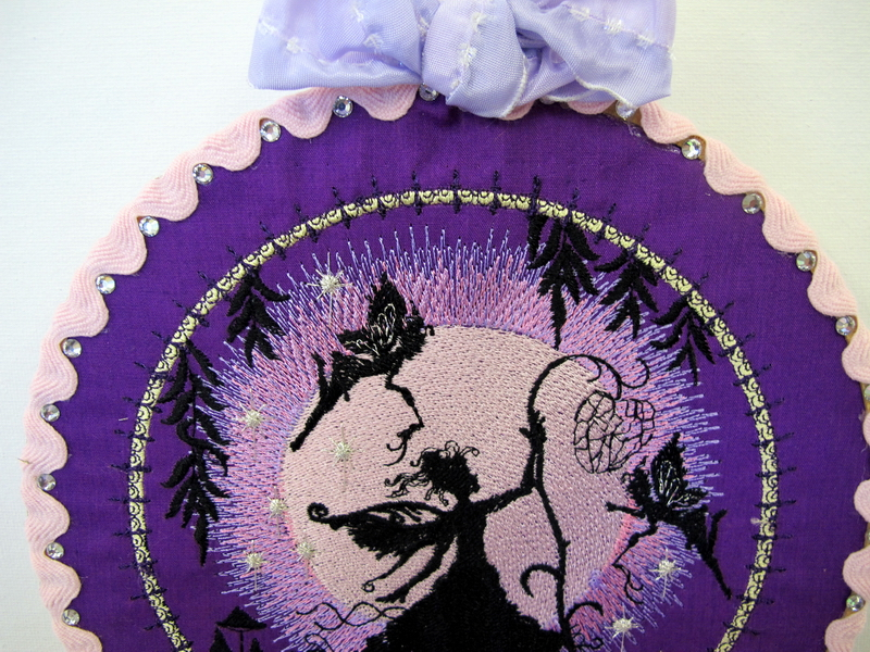 Dream Moon Fairies Machine Embroidery Designs. Wall Hanging