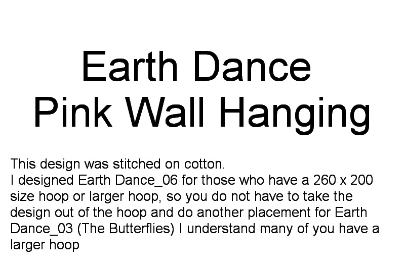 Earth Dance Machine Embroidery Designs