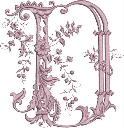 Monograms Machine Embroidery Designs. Letter D