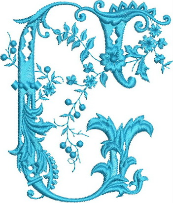Monograms Machine Embroidery Designs. Letter F