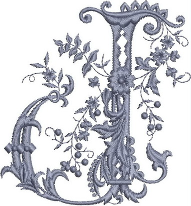 Monograms Machine Embroidery Designs. Letter I