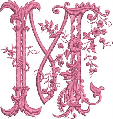 Monograms Machine Embroidery Designs. Letter L