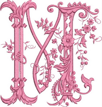 Monograms Machine Embroidery Designs. Letter M