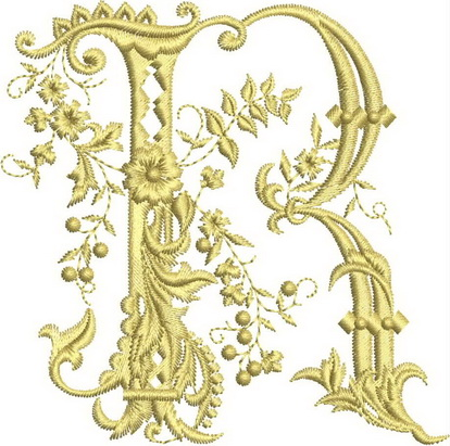 Monograms Machine Embroidery Designs. Letter Q