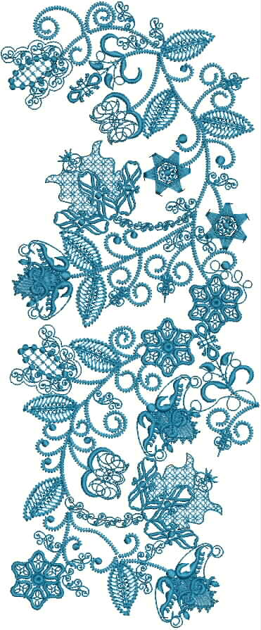 Nature's Bounty Machine Embroidery Designs. Designs included in the machine embroidery design set.