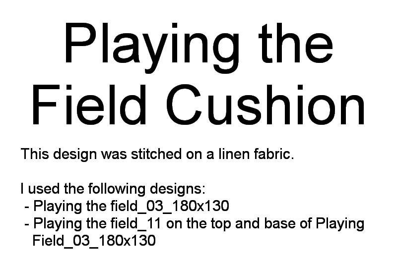 Playing the Field Machine Embroidery Designs