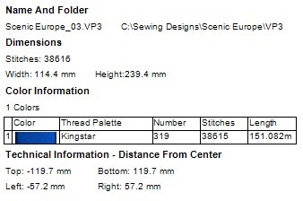 Scenic Europe Machine Embroidery Designs