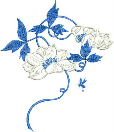 Summer Time Blues Machine Embroidery Designs by Stitchingart.