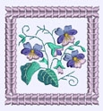 Pansy Machine Embroidery Design Instructions