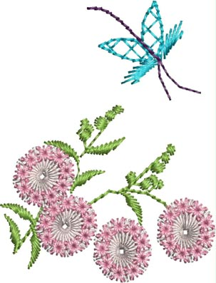 Free Spring Meditation Machine Embroidery Design